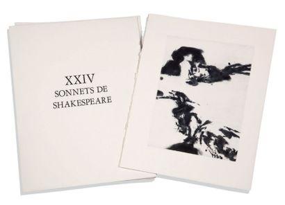 ZAO WOU-KI 赵无极 & YVES BONNEFOY XXIV sonnets de Shakespeare., Illustrations de ZAO...