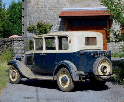 1931 - CITROEN C4G Véritable sortie de grange Belle patine d'époque Attelage originale...