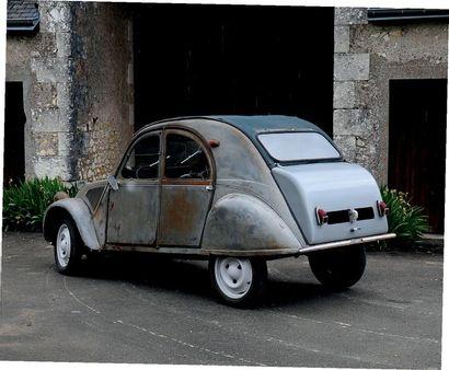 1955 - CITROËN 2CV « RESSORTS APPARENTS » 3e main Superbe jus d'origine Seulement...