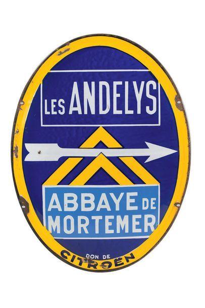 CITROËN Les Andelys Abbaye de Mortemer Plaque...