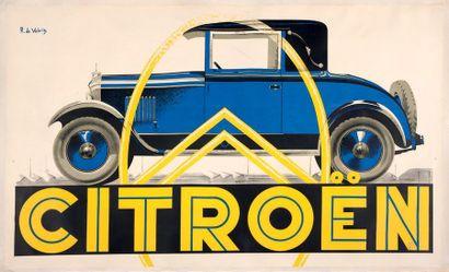 ROGER DE VALERIO Citroën B14 Affiche originale,...