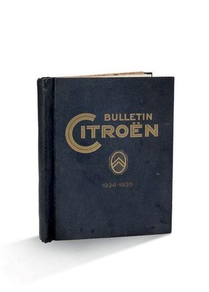 BULLETIN CITROËN 7 numéros de 1924 à 1926...