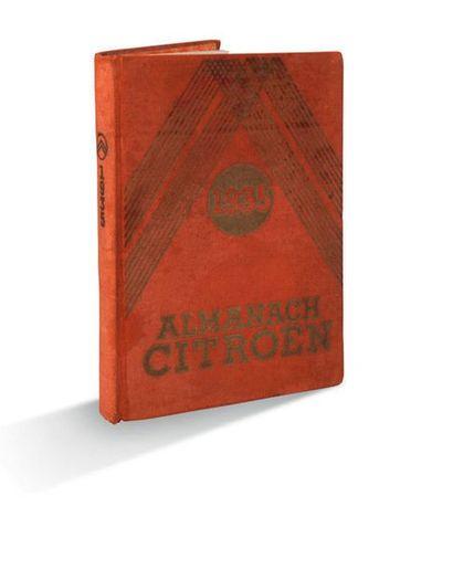 ALMANACH CITROËN 4 volumes de 1932 à 1935 Reliés. Bon état général. Décoloration,...