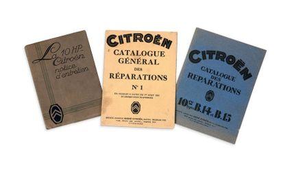 CITROËN 3 brochures La 10 HP, Notice d'entretien...