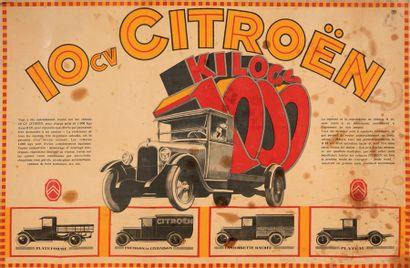 CITROËN B15 Affiche originale, circa 1927...