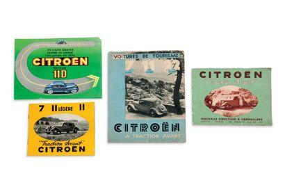 CITROËN 4 catalogues de présentation des...