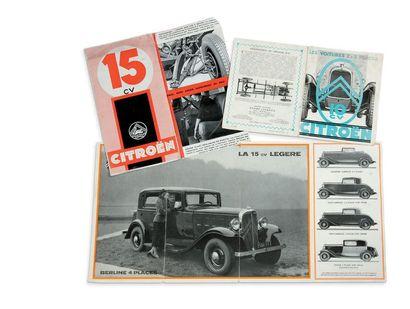 CITROËN 3 brochures sur les 10 et 15 cv Bon...