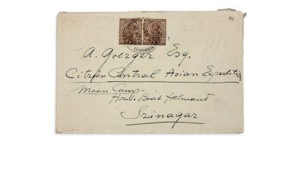 ENVELOPPES - enveloppe d'un courrier adressé par G.M. Haardt à André Goerger à Srinagar,...