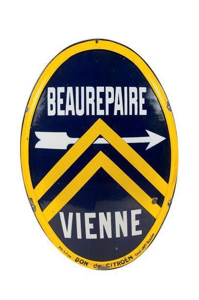 CITROËN Beaurepaire Vienne Plaque en tôle...