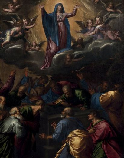 FRANCESCO BASSANO LE JEUNE (BASSANO DEL GRAPPA 1549 - VENISE 1592) L'Assomption de...