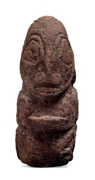 POLYNÉSIE STYLE DES ILES MARQUISES, SCULPTURE CIRCA 1930/1940 Statue «TIKI» Sculpture...
