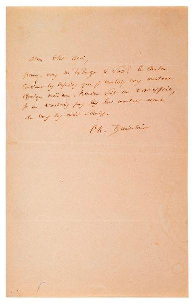 BAUDELAIRE (Charles). 1821-1867.<br/>Ecrivain poète