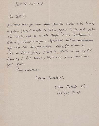 BRASILLAC (Robert). 1909-1945.<br/>Ecrivain