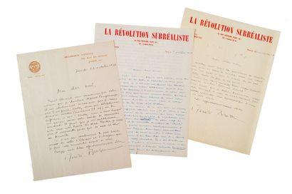 BRETON (André). 1896-1966.<br/>Écrivain surréaliste