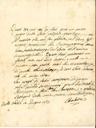 CANOVA (Antonio). 1757-1822.<br/>Artiste italien