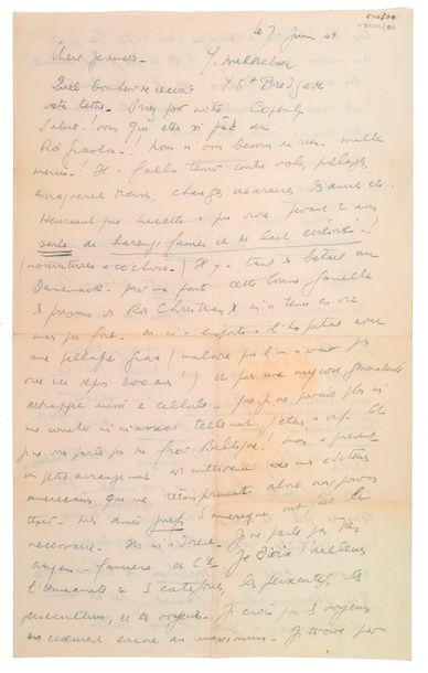 CELINE (Louis-Ferdinand Destouches). 1894-1961.<br/>Ecrivain