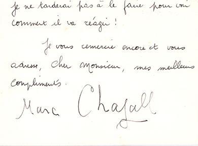 CHAGALL (Marc). 1887-1985.<br/>Artiste peintre
