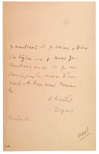 DEGAS (Edgar). 1834-1917.<br/>Artiste peintre