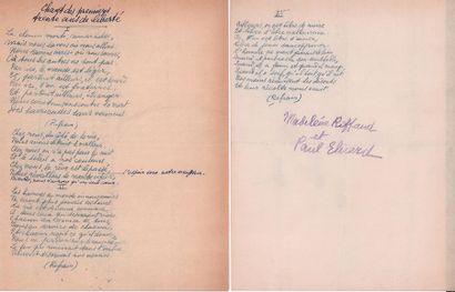ELUARD (Paul). 1895-1952.<br/>Ecrivain poète