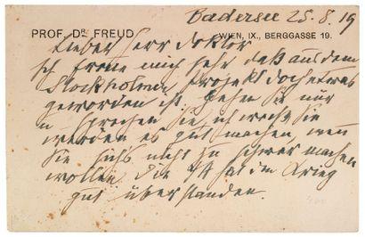 FREUD (Sigmund). 1856-1939.<br/>Psychanalyste