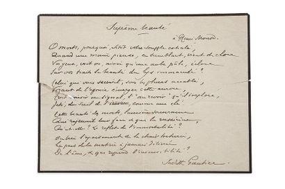 GAUTIER (Judith). 1845-1917.<br/>Poétesse