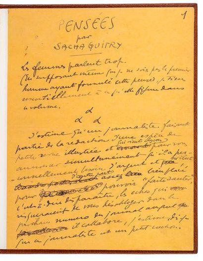 GUITRY (Sacha). 1885-1957.<br/>Dramaturge