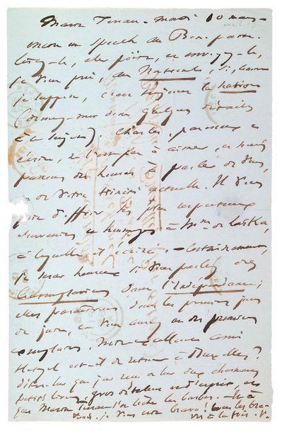 HUGO (Victor). 1802-1885.<br/>Ecrivain poète