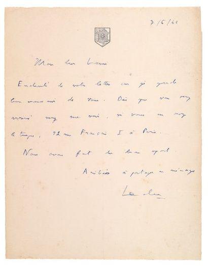 LECLERC (Philippe de Hauteclocque dit). 1902-1947.<br/>Maréchal de France