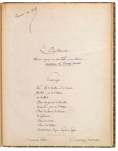 LECONTE de LISLE (Charles-Marie). 1818-1894.<br/>Ecrivain poète