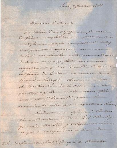 LESSEPS (Ferdinand de). 1805-1894.<br/>Diplomate, entrepreneur