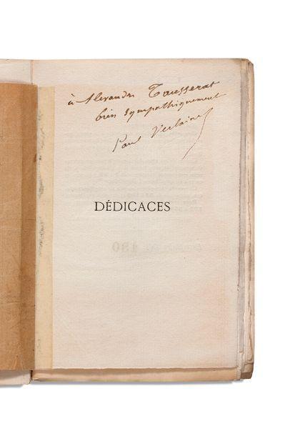 VERLAINE (Paul). 1844-1896.Ecrivain poète Dédicaces (Dessin de A.-F. Cazals, gravé...