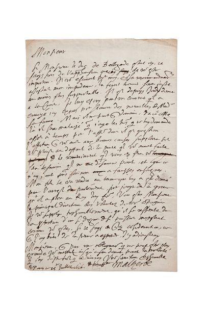 MALHERBE (François de). 1555-1626.<br/>Ecrivain poète