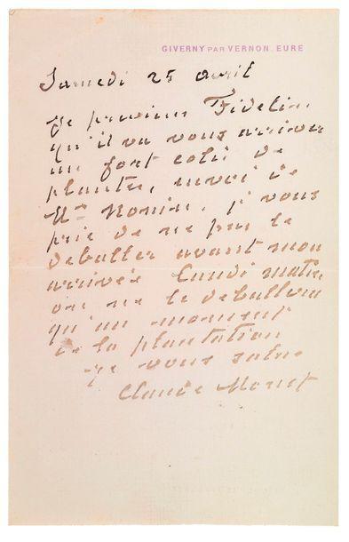 MONET (Claude). 1840-1926.<br/>Peintre impressionniste
