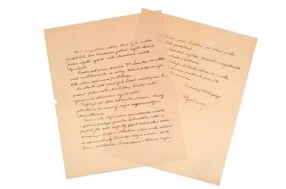 MUCHA (Alfons). 1860-1939. Artiste tchèque L.A.S. «Alfons Mucha» Prague, 26 octobre...