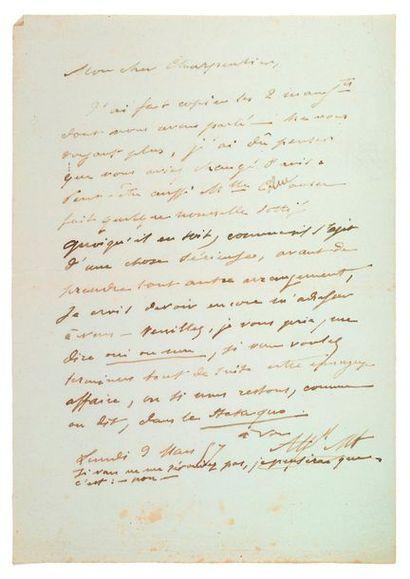 MUSSET (Alfred de). 1810-1857.<br/>Ecrivain poète