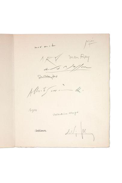 CREVEL (René) Feuilles éparses. Paris, Louis Broder, 1965. In-4, en feuilles, sous...
