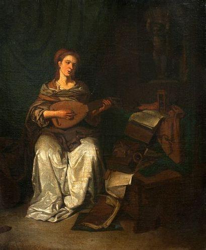 ECOLE HOLLANDAISE VERS 1700, SUIVEUR DE CORNELIS BEGA (1631 - 1664)