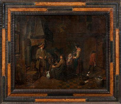 ATTRIBUÉ À JEAN JOSEPH HOREMANS (ANVERS 1682 - 1790)