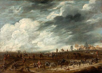 ATTRIBUÉ À ROBERT VAN DEN HOECKE (ANVERS 1622 - BERGUES-SAINT-WINOC 1668)