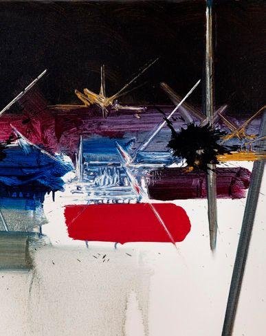 Georges MATHIEU (1921-2012) Vieillesse des roses, 1983 Alkyde sur toile, signée en...