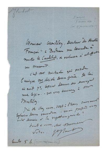 FLAUBERT (Gustave). 1821-1880. Ecrivain.