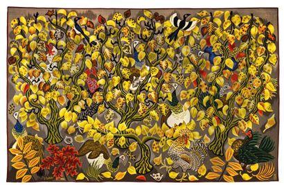DOM ROBERT (GUY DE CHAUNACLANZAC)(1907-1997) Tapisserie dite Pavane de Novembre Laine...