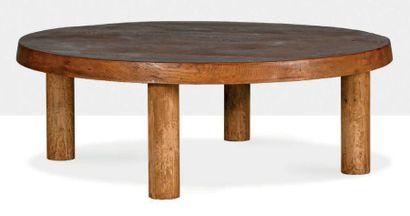 Pierre CHAPO (1927-1986) Coffee table Elm 14.17 x 36.61 in.