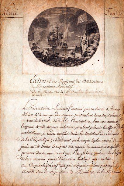 Laurent TRUGUET (1752-1839) amiral, ministre de la Marine.