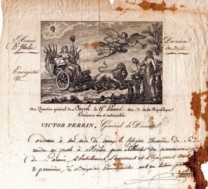 Claude-Victor Perrin, dit VICTOR (1764-1841) maréchal, duc de Bellune.