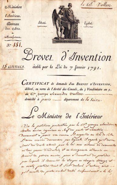 BREVET D'INVENTION.