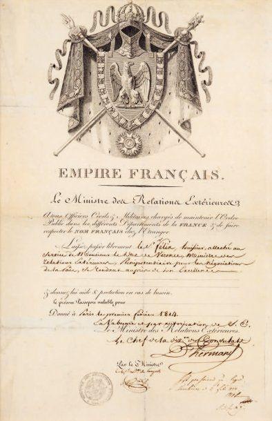 [Armand de CAULAINCOURT, duc de Vicence (1772-1827)].