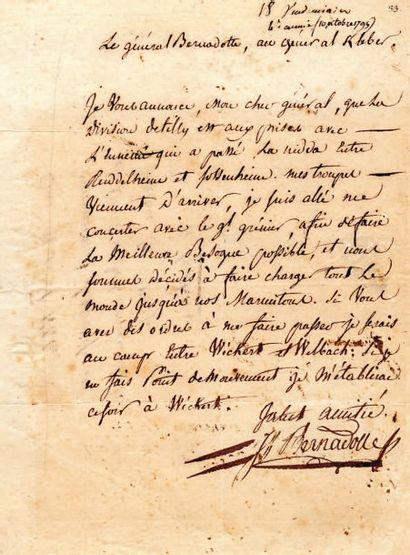 Jean BERNADOTTE (1764-1844) maréchal d'Empire, Roi de Suède