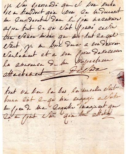 Donatien-Alphonse-François, marquis de SADE (1740-1814) écrivain L.A.S., [La Coste...