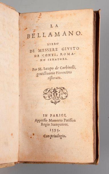 CONTI. La Bella Mano… Paris. Patisson. 1595....